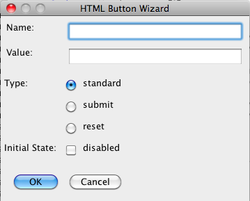 HTML Button Tool