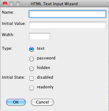 HTML Text Input Tag Tool