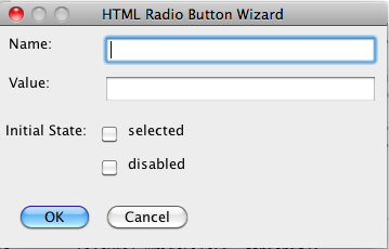 HTML Radio Button Tool