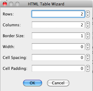 HTML Table Tool