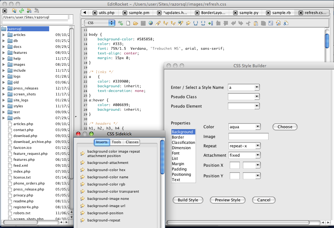 Css Editor For Mac Windows And Linux