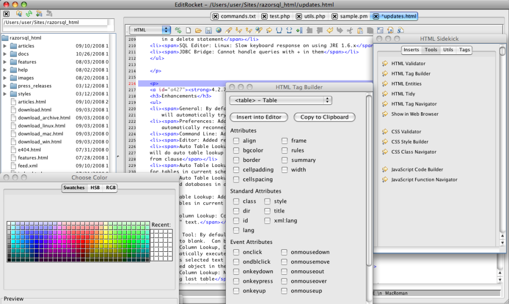 HTML Editor for Mac, Windows, and Linux