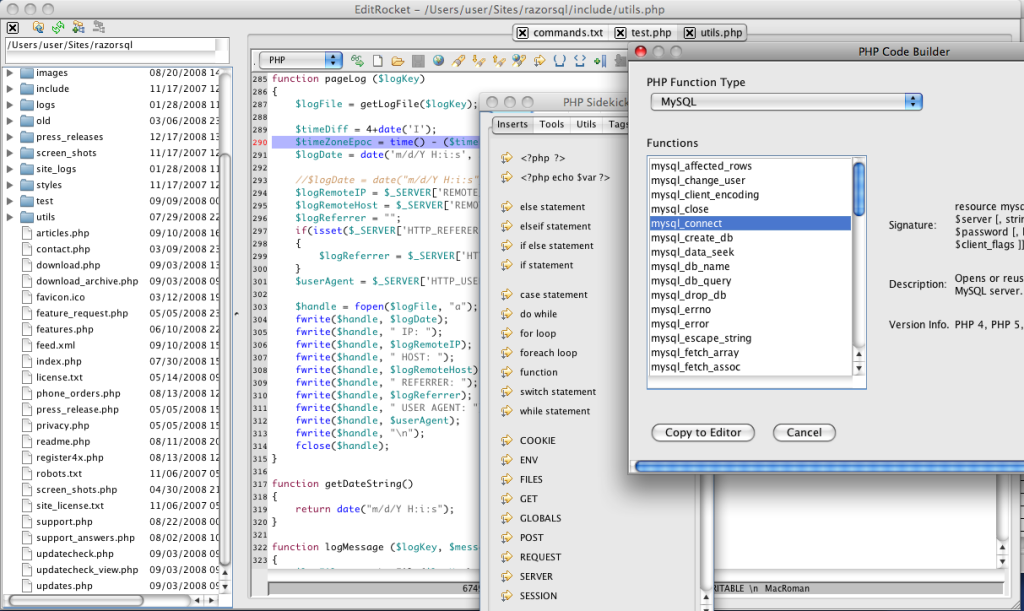 PHP Editor and IDE for Mac, Windows, and Linux